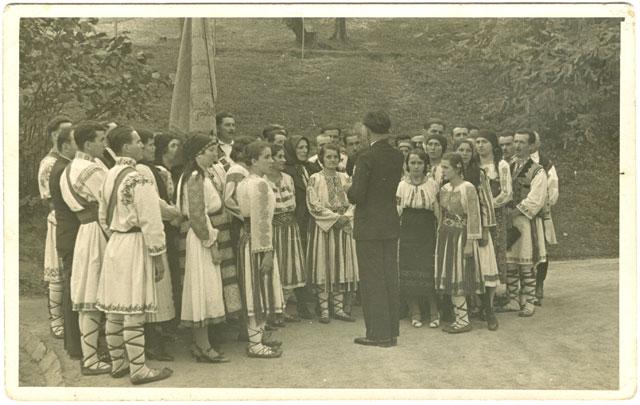 1938 Corul mixt la primirea delegaţiei franceze UDR