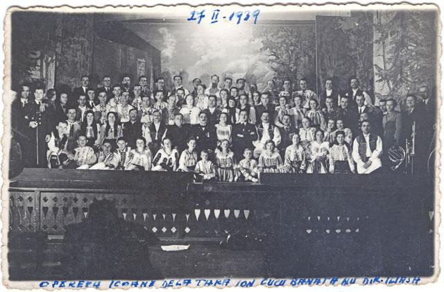 """1939, opereta """"Icoane de la tara"""" a lui Ion Cucu-Banateanu"""