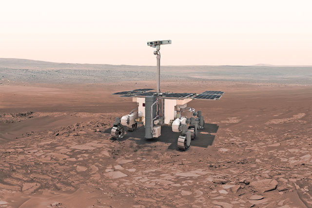 Recrearea suprafeţei planetei Marte pentru a testa roverul ExoMars