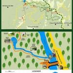 Rezervatia naturala Bigar harta poteca turistica
