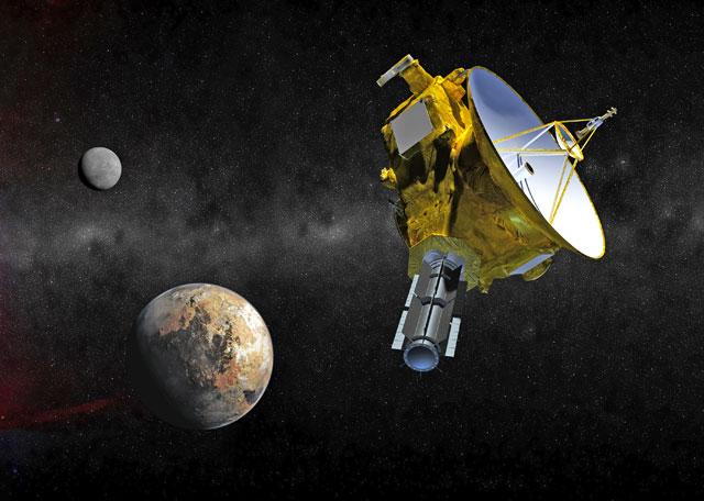 satelit apropiindu-se de planeta Pluto