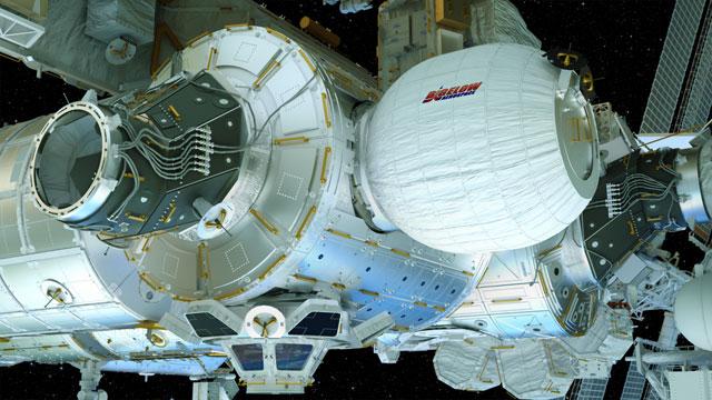 Modulul spatial expandabil BEAM atasat statiei ISS
