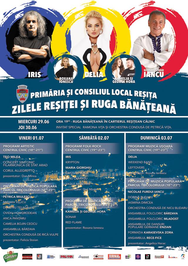 Zilele Resitei 2016 program