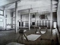Sala de gimnastica, imagine istorica din anul 1936