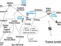 harta trasee turistice Semenic